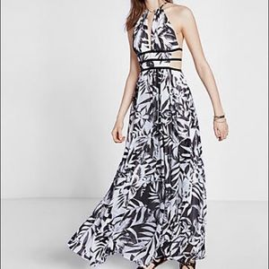 Express Black and White Sexy Summer Maxi-Dress